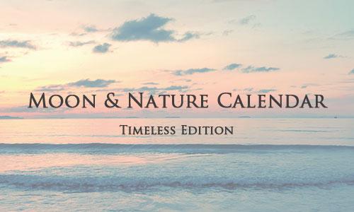 月と自然のカレンダー