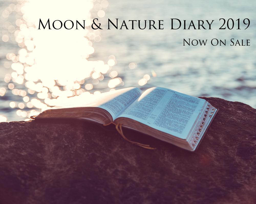 月と自然の手帳2019年 販売中